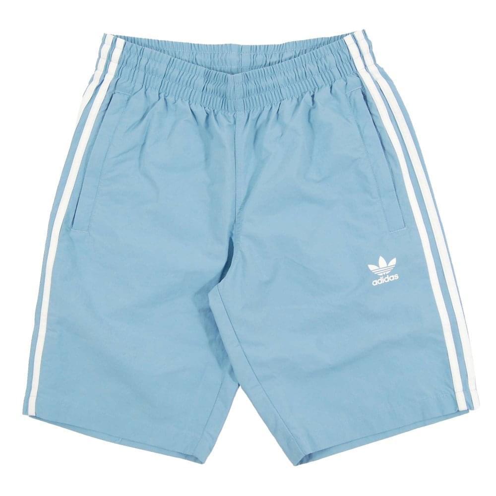 346d8b4479cdc Adidas Originals 3-Stripes Swim Shorts Ash Blue - Mens Clothing from ...
