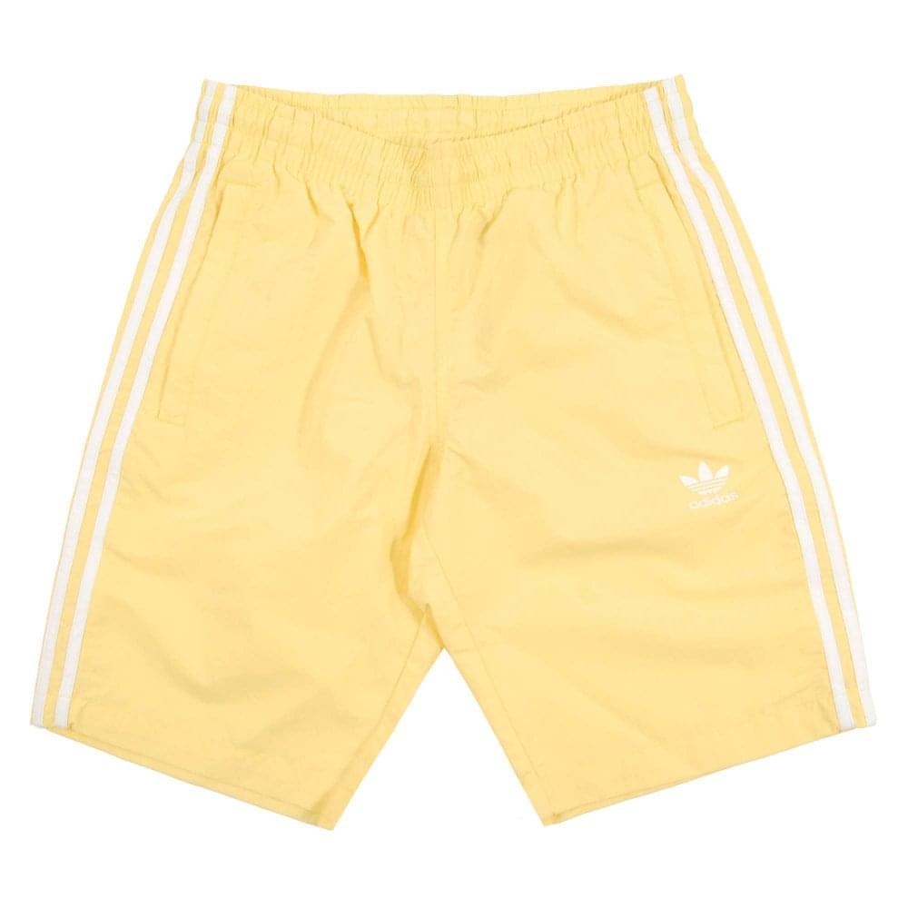 29b4ea3b7328e Adidas Originals 3-Stripes Swim Shorts Intense Lemon - Mens Clothing ...