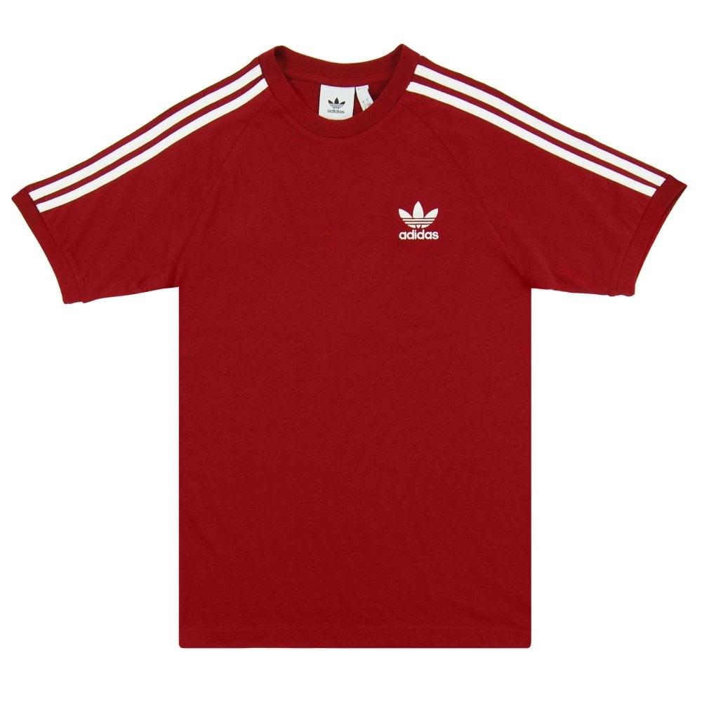 44acfe5b21 Adidas Originals 3-Stripes T-Shirt Collegiate Burgundy - Mens ...