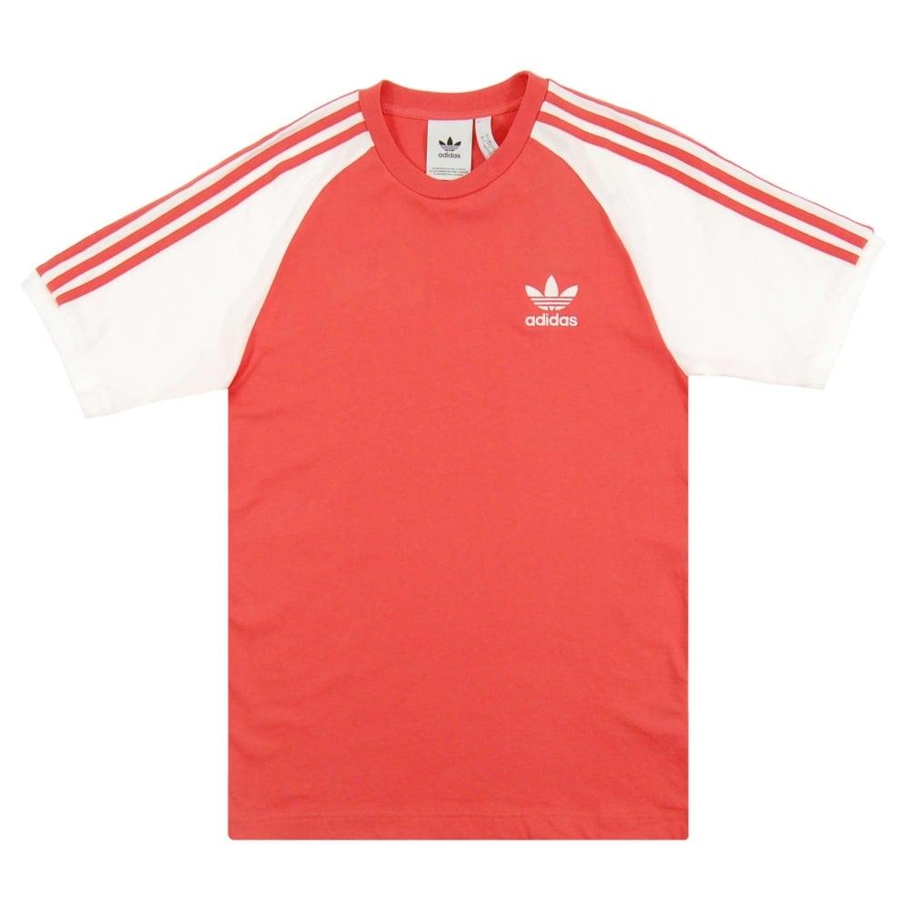 ff6239701d Adidas Originals 3-Stripes T-Shirt Trace Scarlet - Mens Clothing ...