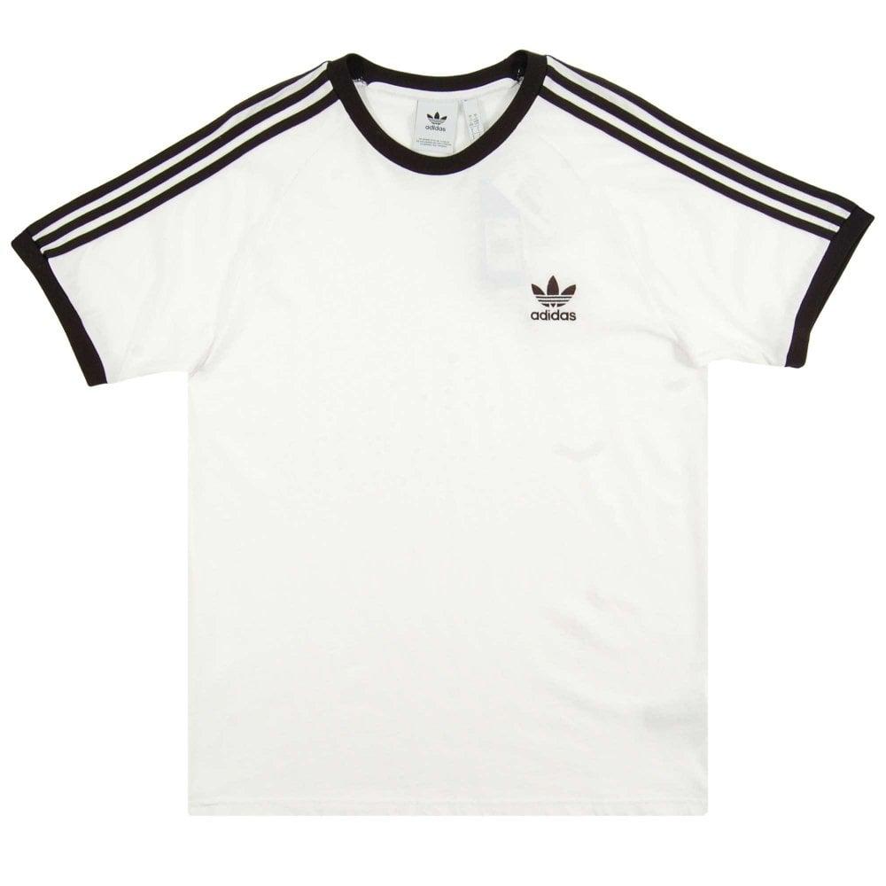 c940faad5e Adidas Originals 3-Stripes T-Shirt White Black - Mens Clothing from ...