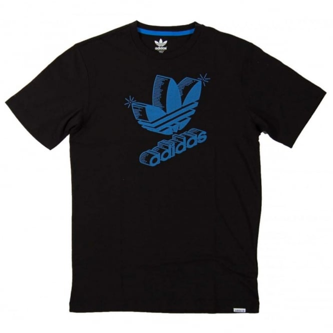 Adidas Originals 3d Retro Logo T Shirt Black Mens
