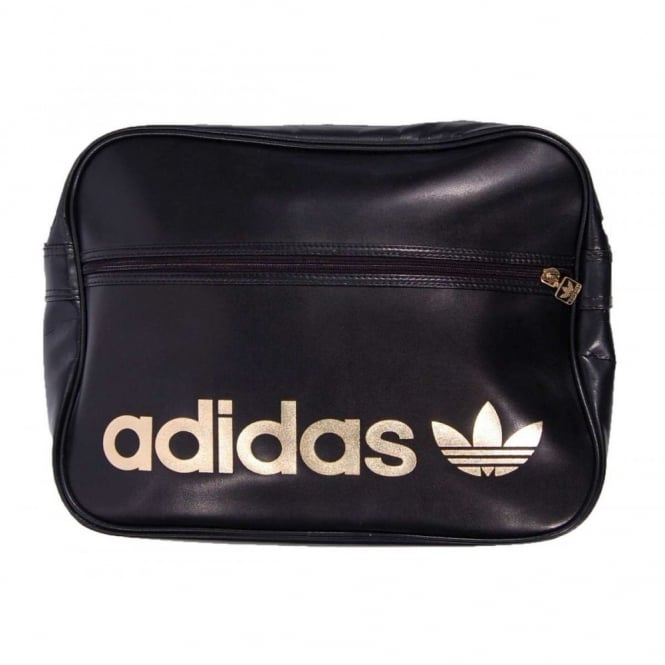 Adidas Originals Ac Airliner Bag Black Gold Mens Clothing From