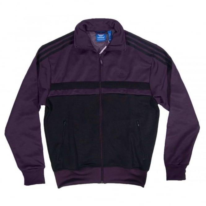 f51f50ab62d9 Adidas Originals Adi Icon Track Top Black Rich Red - Mens Clothing ...