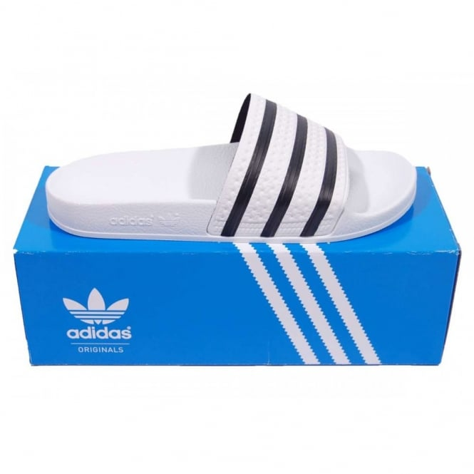 99bb712bf4e5a Adidas Originals Adilette Sandals White - Mens Clothing from Attic ...