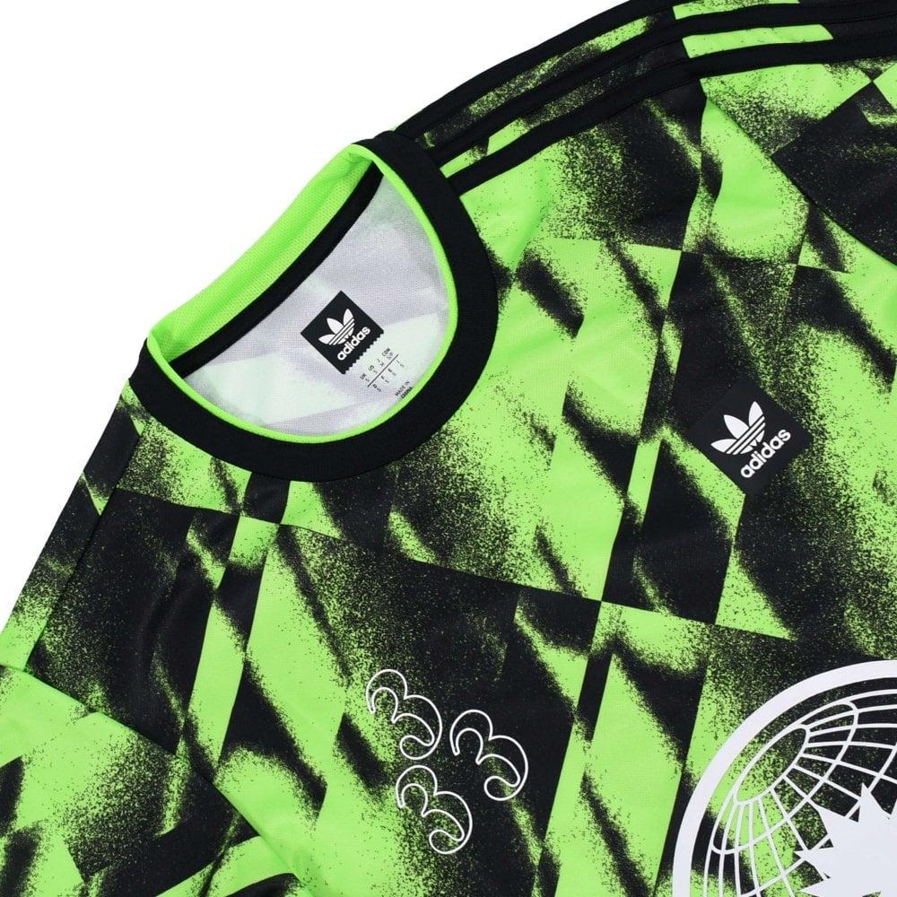 Allover Print Club Jersey Solar Green Black