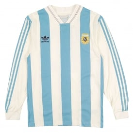 Argentina 1987 Jersey Echo White Shade Blue