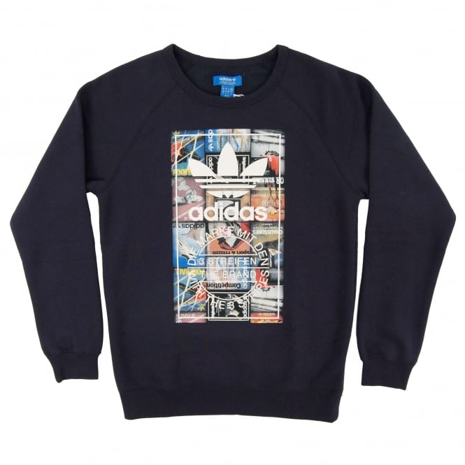 Adidas Originals Back To School Crew Sweatshirt Legend Ink