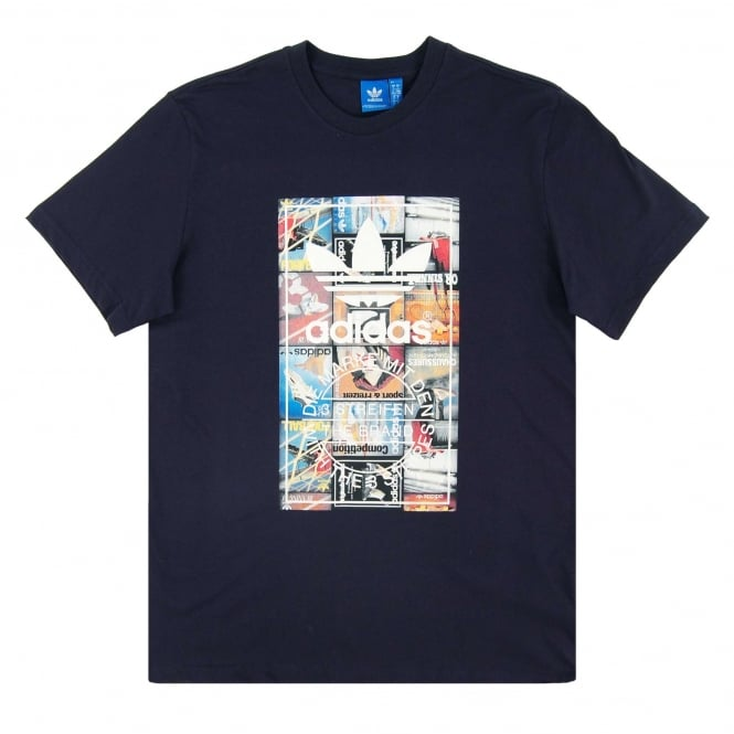 Adidas Originals Back To School Tongue Label T-Shirt Legend Ink