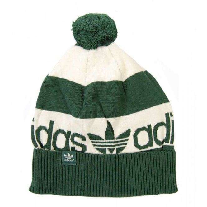 Adidas Originals Beanie Bold Stripe Green - Mens Clothing from Attic ... 722ec7cf165