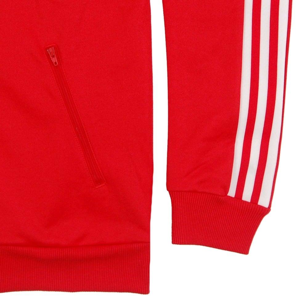 Adidas originals beckenbauer Track Top rojo vivo hombre  Clothing
