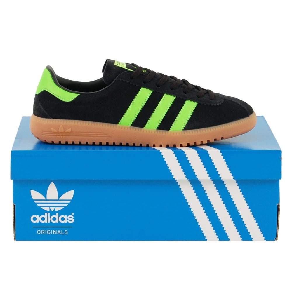 best sneakers f0eb4 4cd50 Adidas Originals Bermuda Core Black Green Gum - Mens Clothing from Attic  Clothing UK