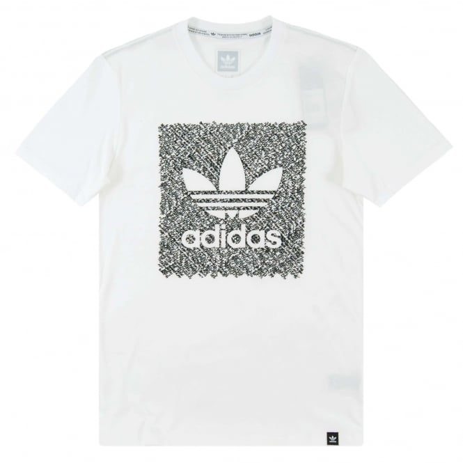 Adidas Originals Blackbird Word Camo T-Shirt White