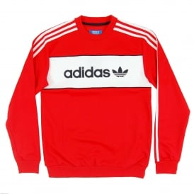 Block Crew Sweat Core Red