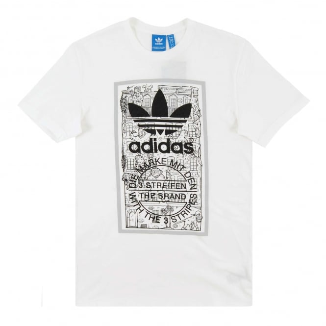 Adidas Originals Brick Tongue Label T-Shirt White