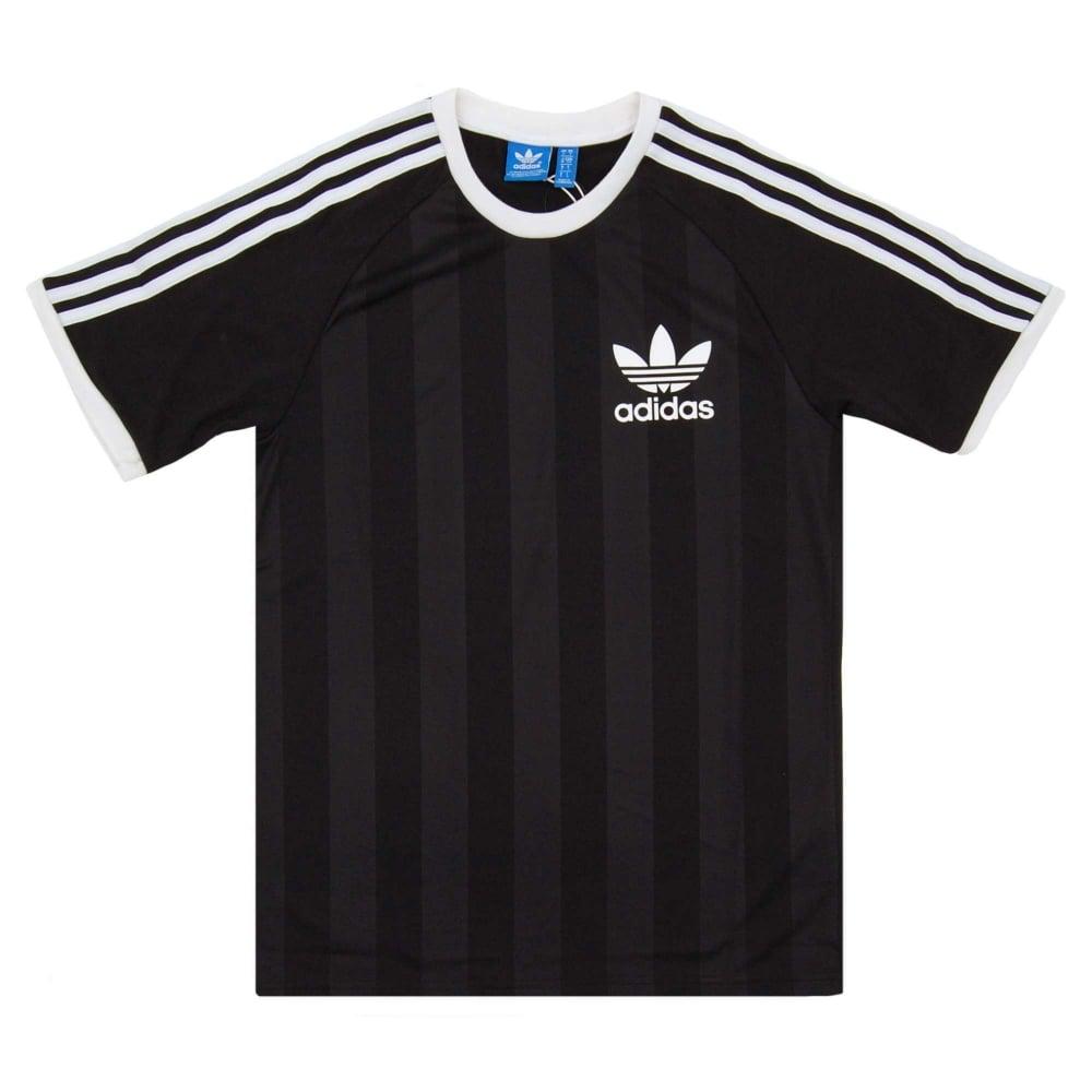 Adidas Originals California Football T Shirt Black Mens