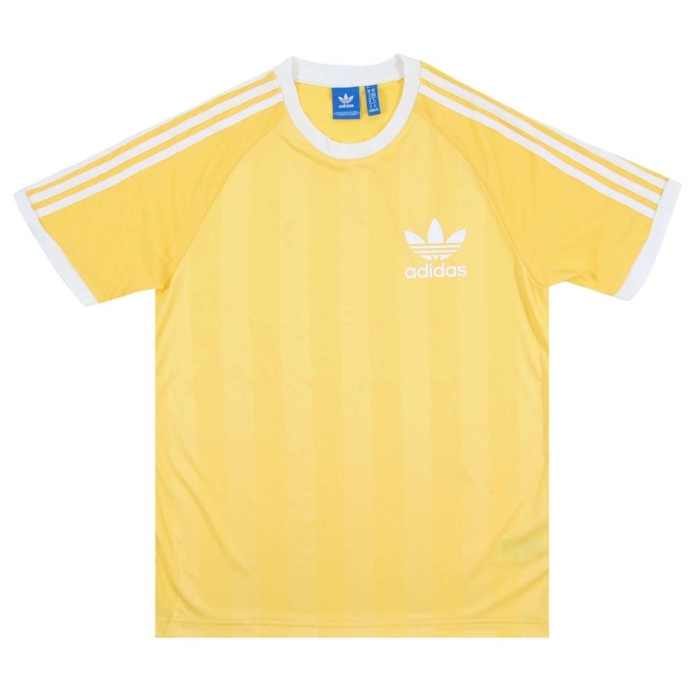 51f43a842 Adidas Originals California Football T-Shirt Spray Yellow - Mens ...