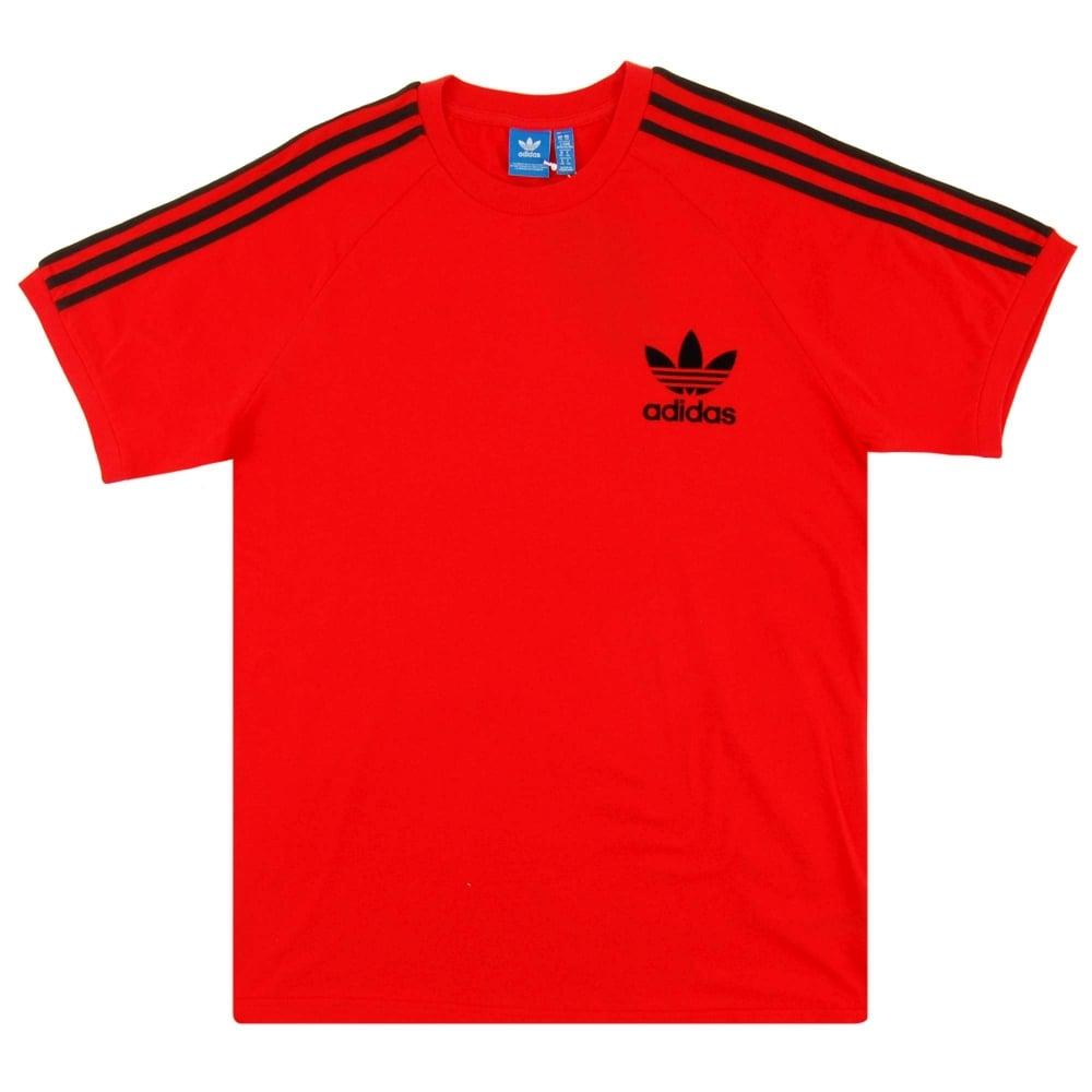 Adidas Originals California T-Shirt Core Red - Mens Clothing from ... 9e38892094fa