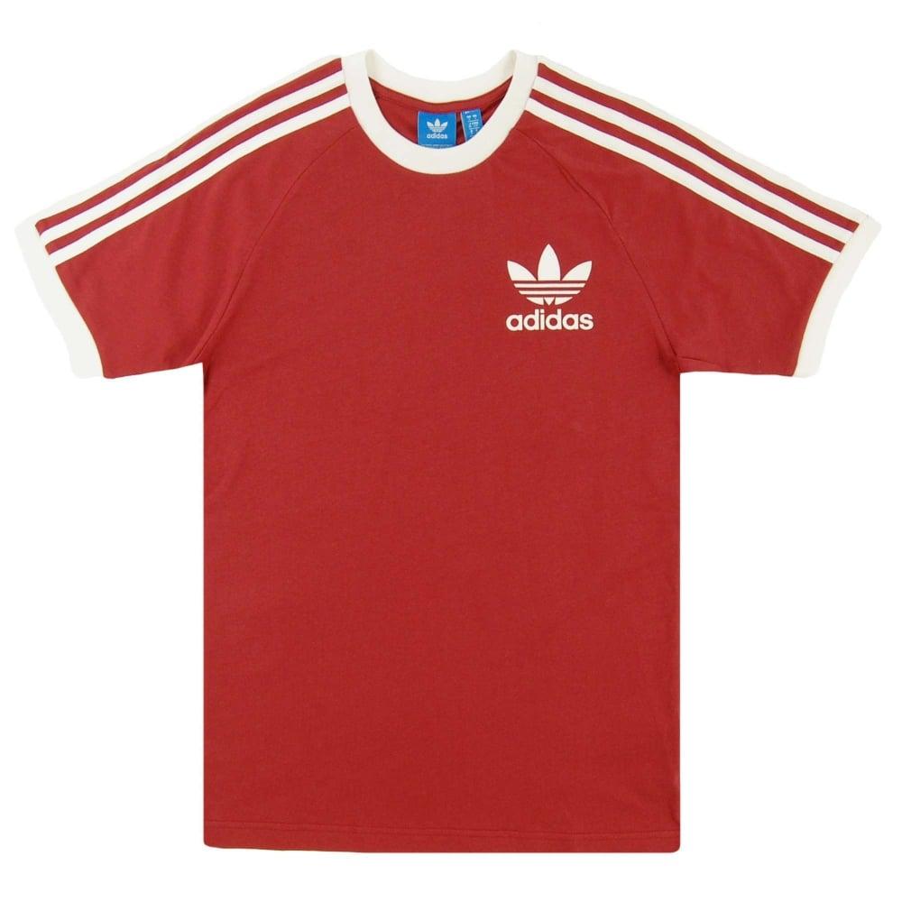 f95cd77ebb18 Adidas Originals California T-Shirt Mystery Red White - Mens ...