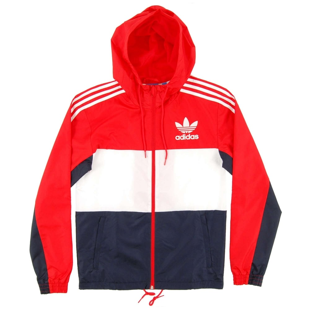 adidas originals windbreaker red. Black Bedroom Furniture Sets. Home Design Ideas