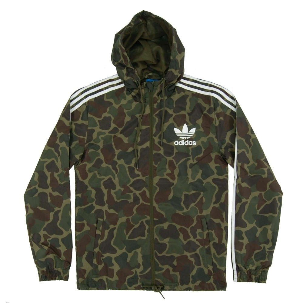 adidas originals camo windbreaker jacket multicolor mens. Black Bedroom Furniture Sets. Home Design Ideas