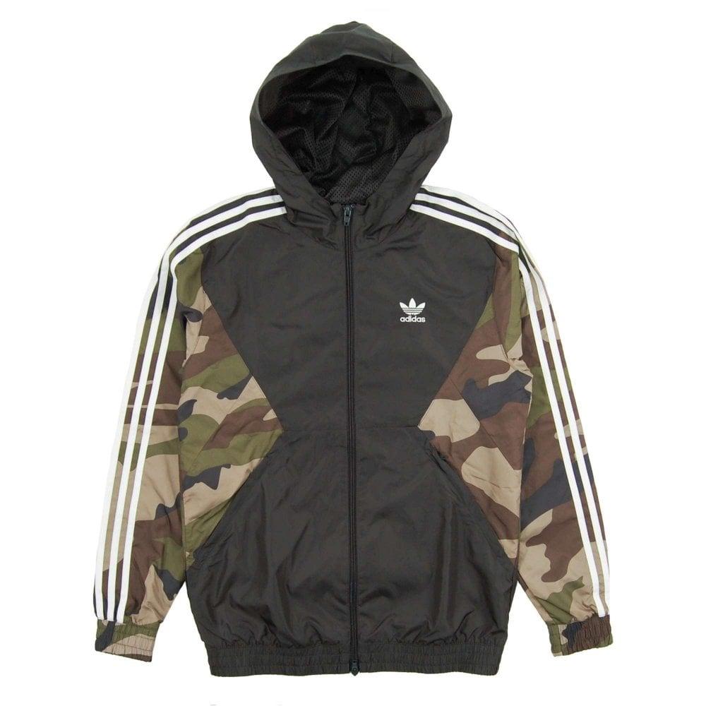 e82c4eefa0422 Adidas Originals Camo Windbreaker Jacket Utility Black - Mens ...