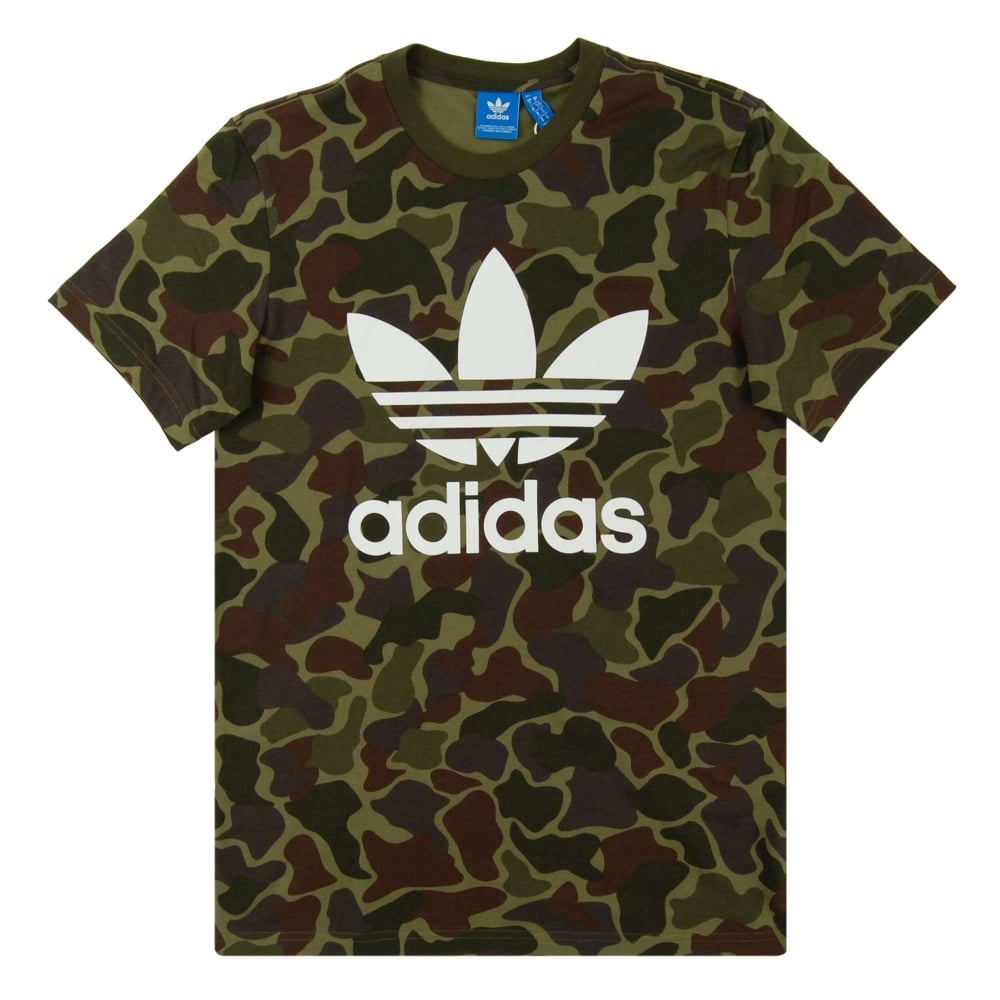 ffb2a94f9d1771 Adidas Originals Camouflage T-Shirt Multicolor - Mens Clothing from ...