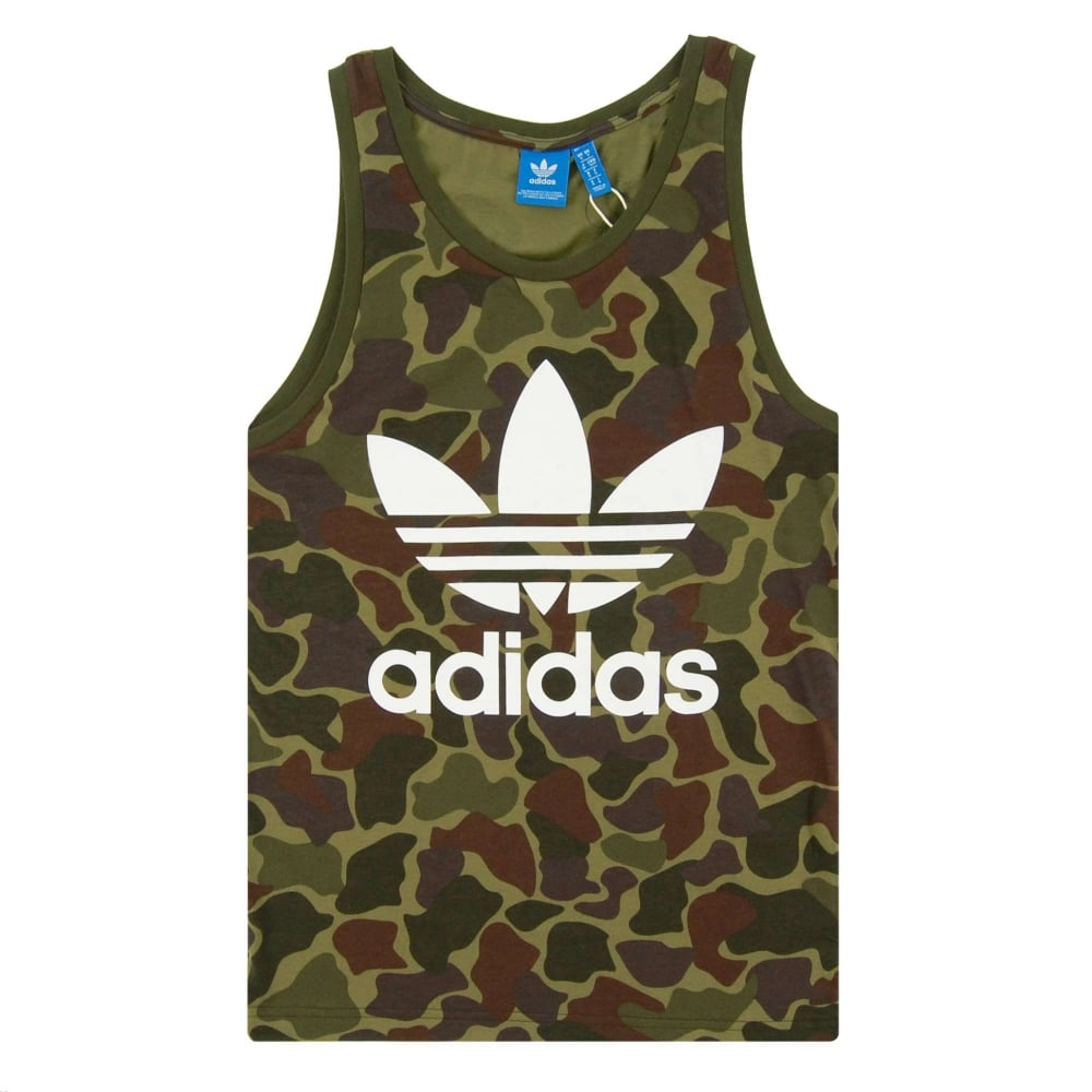 6a9b54f8aac8 Adidas Originals Camouflage Tank Top Multicolor - Mens Clothing from ...