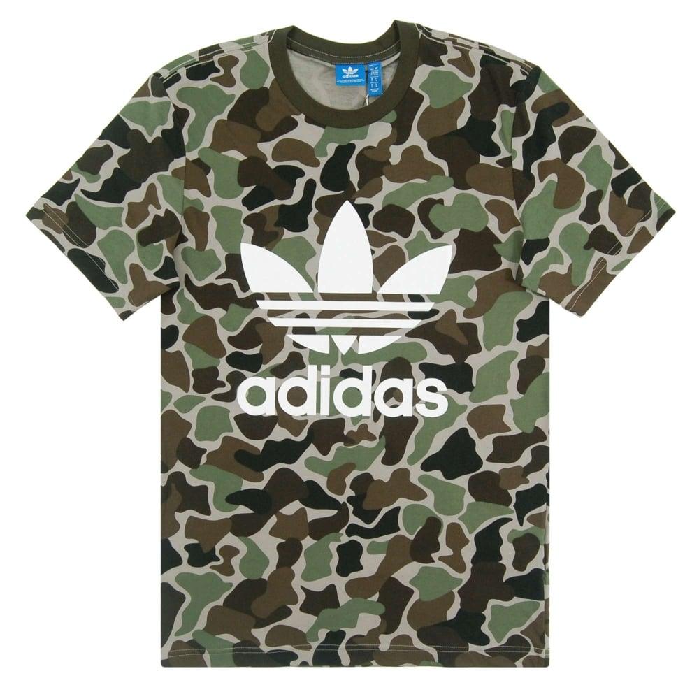 adidas originals camouflage trefoil t shirt multicolor. Black Bedroom Furniture Sets. Home Design Ideas