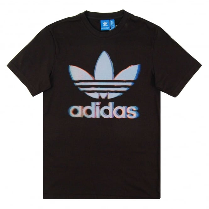 Adidas Originals Chromatic Trefoil T-Shirt Black