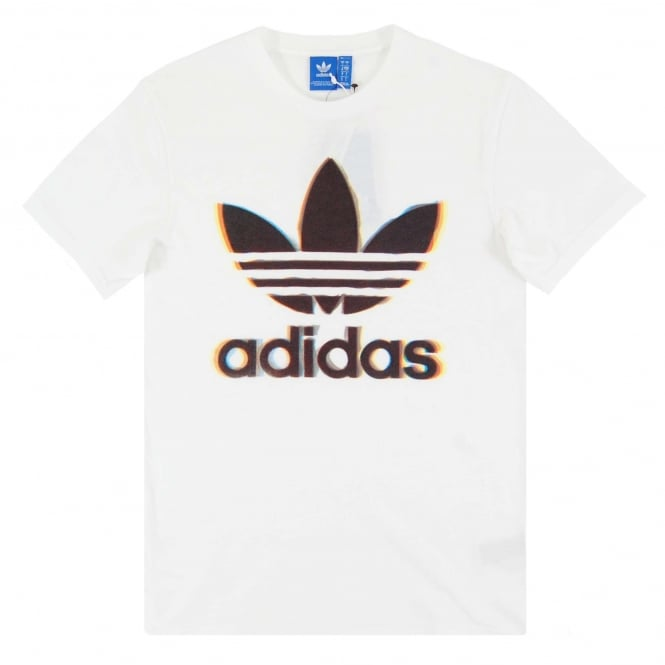 Adidas Originals Chromatic Trefoil T-Shirt White