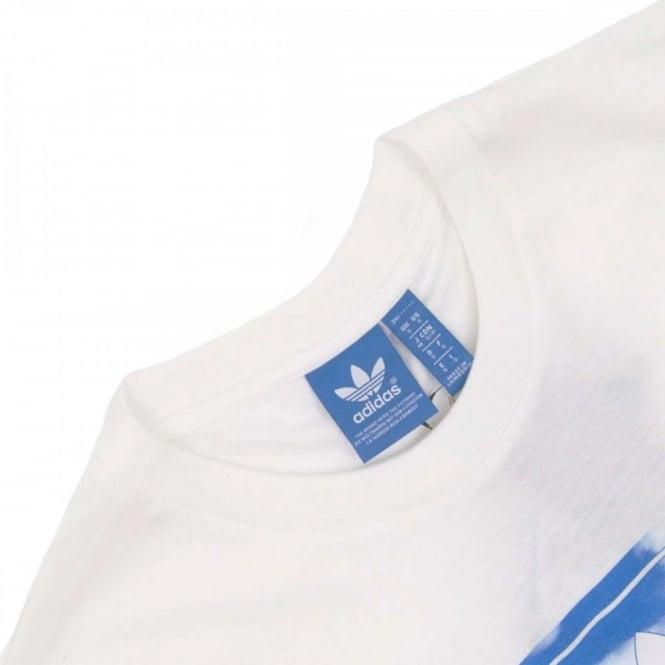 a8c50f72f Adidas Originals Cloud Tongue Label T Shirt White Mens Clothing