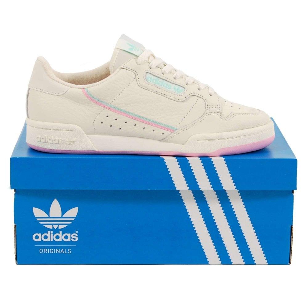 Adidas Originals Continental 80 Off White True Pink Clear Mint