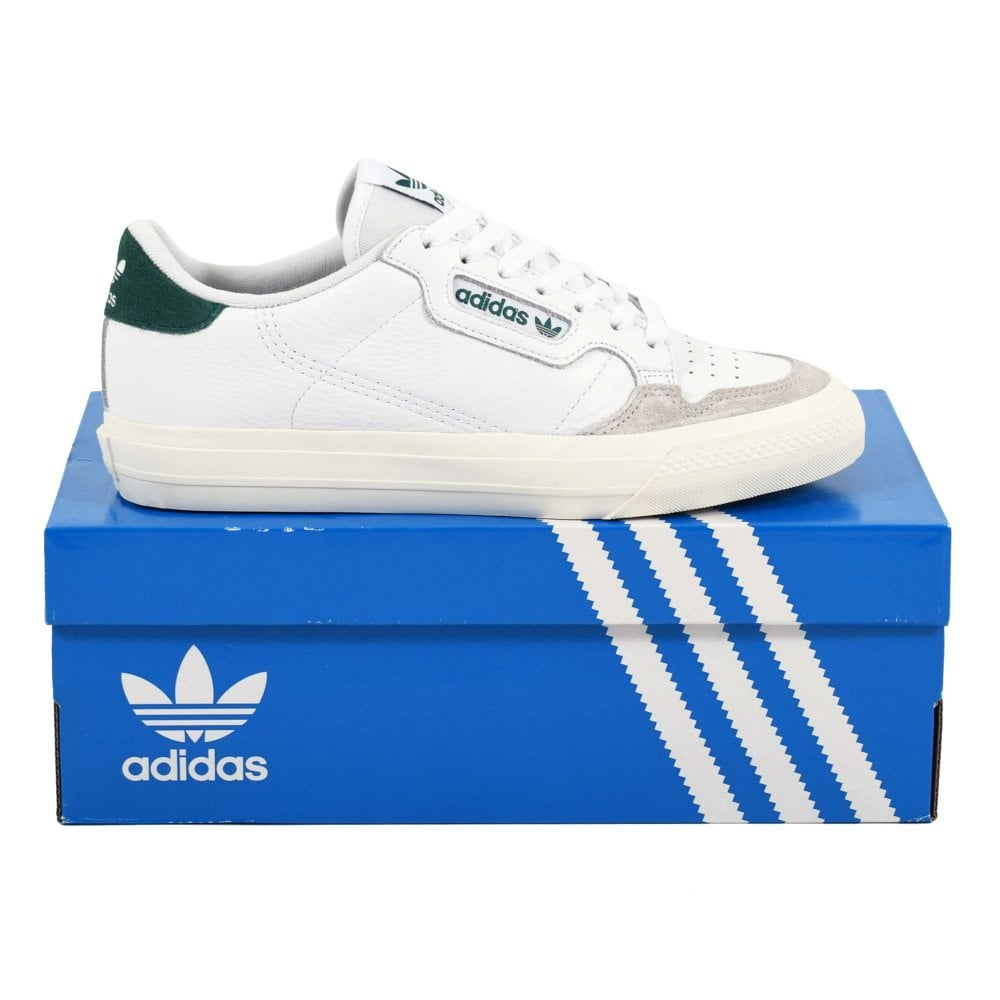 Adidas Originals Continental Vulc Footwear White Cloud White Collegiate Green