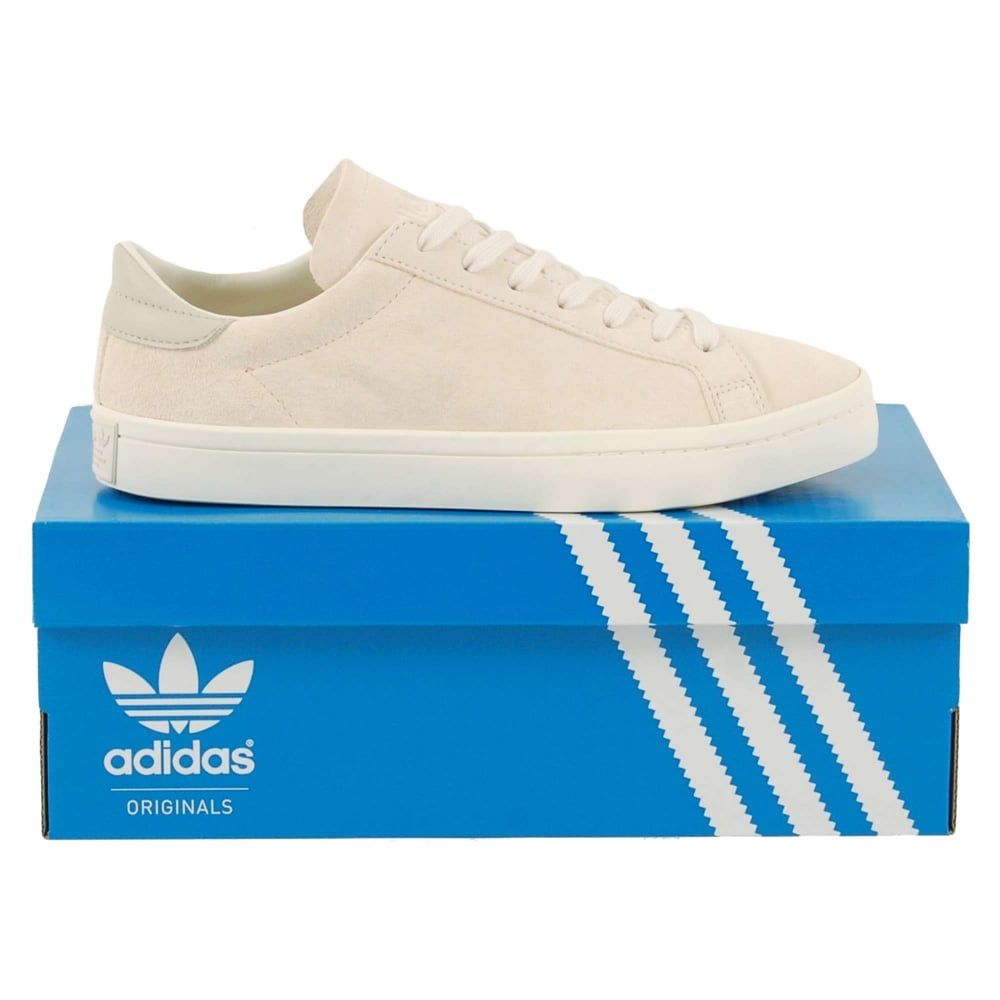 Adidas Originals Court Vantage Clear Brown Chalk White - Mens Clothing from Attic Clothing UK