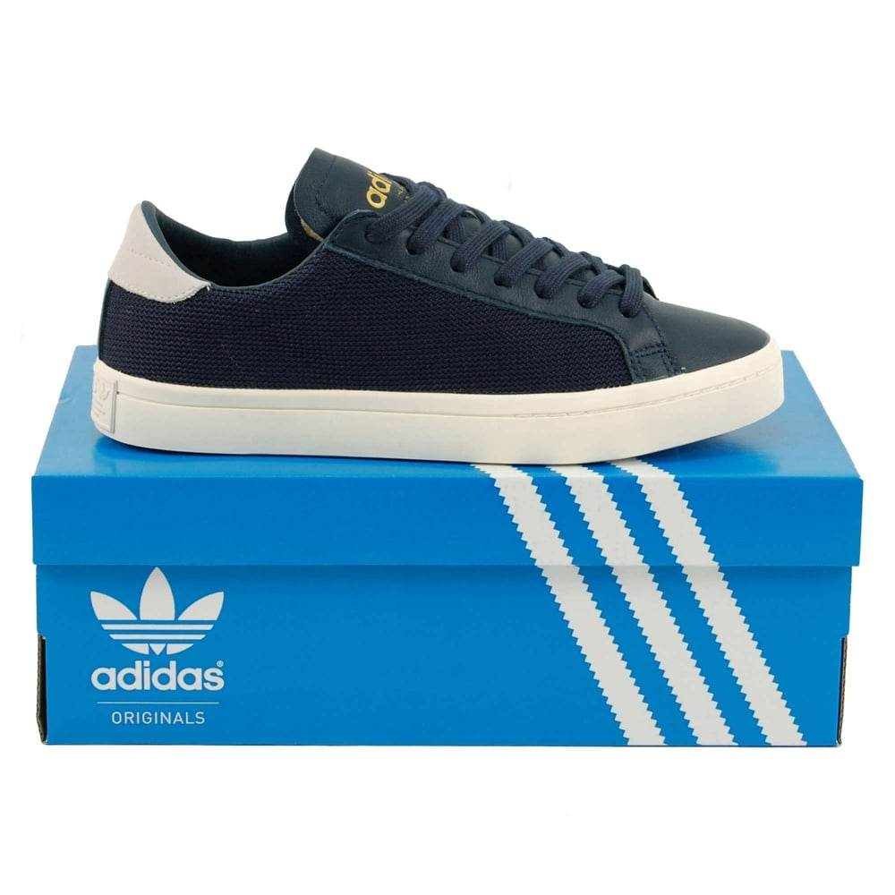 Adidas Originals Court Vantage Collegiate Navy White - Mens Clothing from Attic Clothing UK