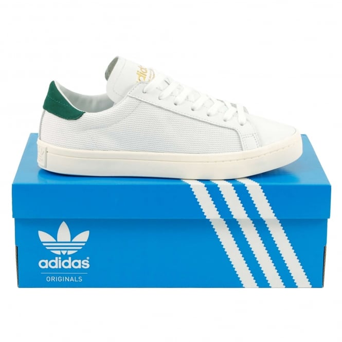 Adidas Originals Court Vantage White Collegiate Green
