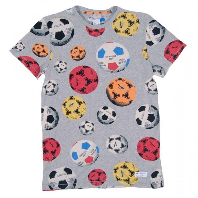 3d21ae3b0b0e47 Adidas Originals Crazy Tango T-Shirt Med Grey Heather - Mens ...