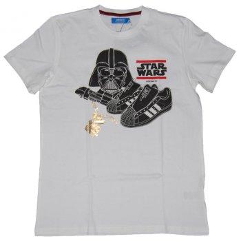 Darth Adidas T Originals White Vader Shirt 5j34ARLq