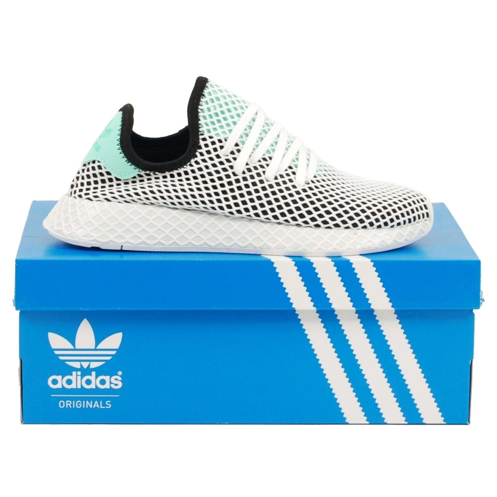 86473497c7884 Adidas Originals Deerupt Runner Core Black Easy Green White