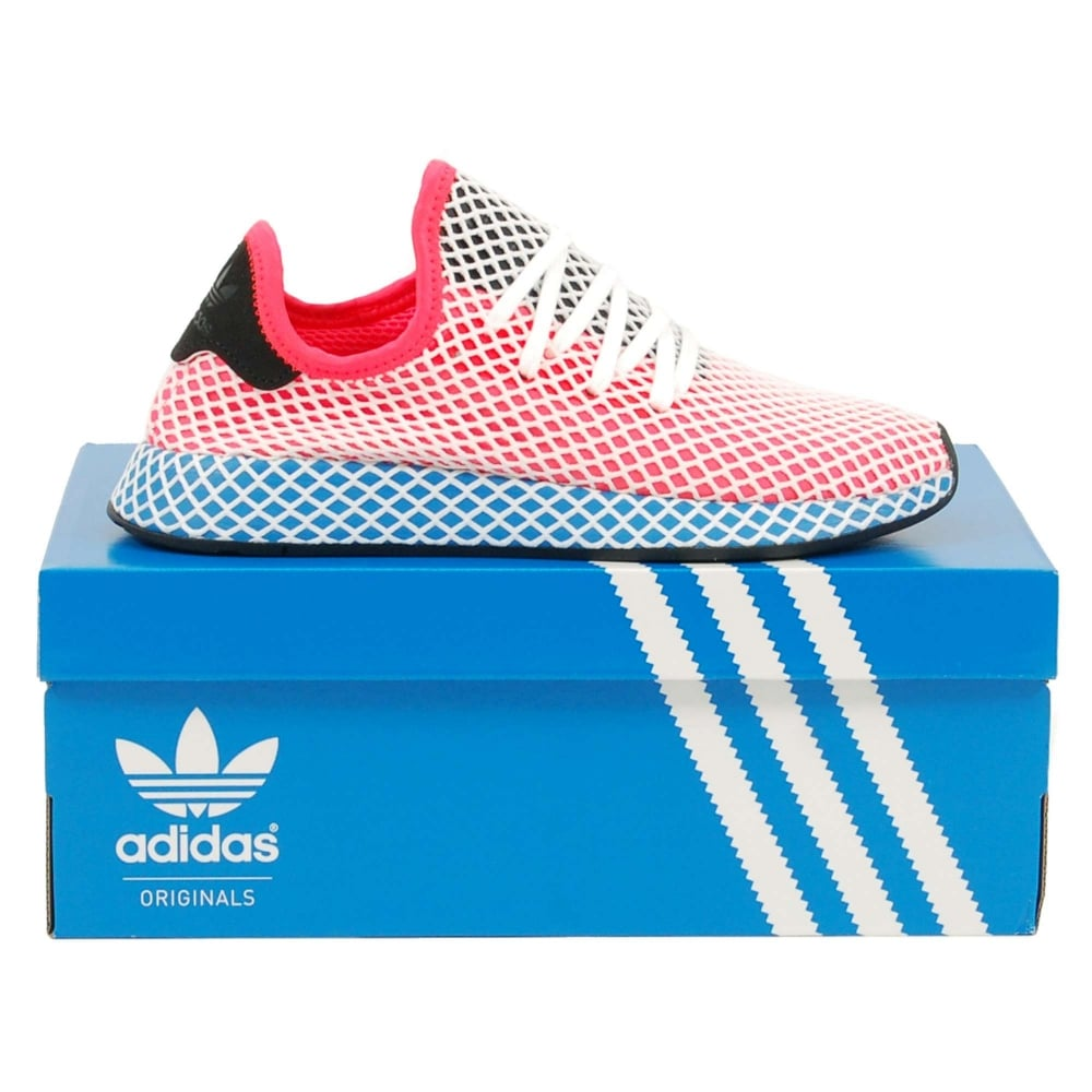 best sneakers 3dd69 6236c Adidas Originals Deerupt Runner Solar Red Bluebird White - Mens Clothing  from Attic Clothing UK
