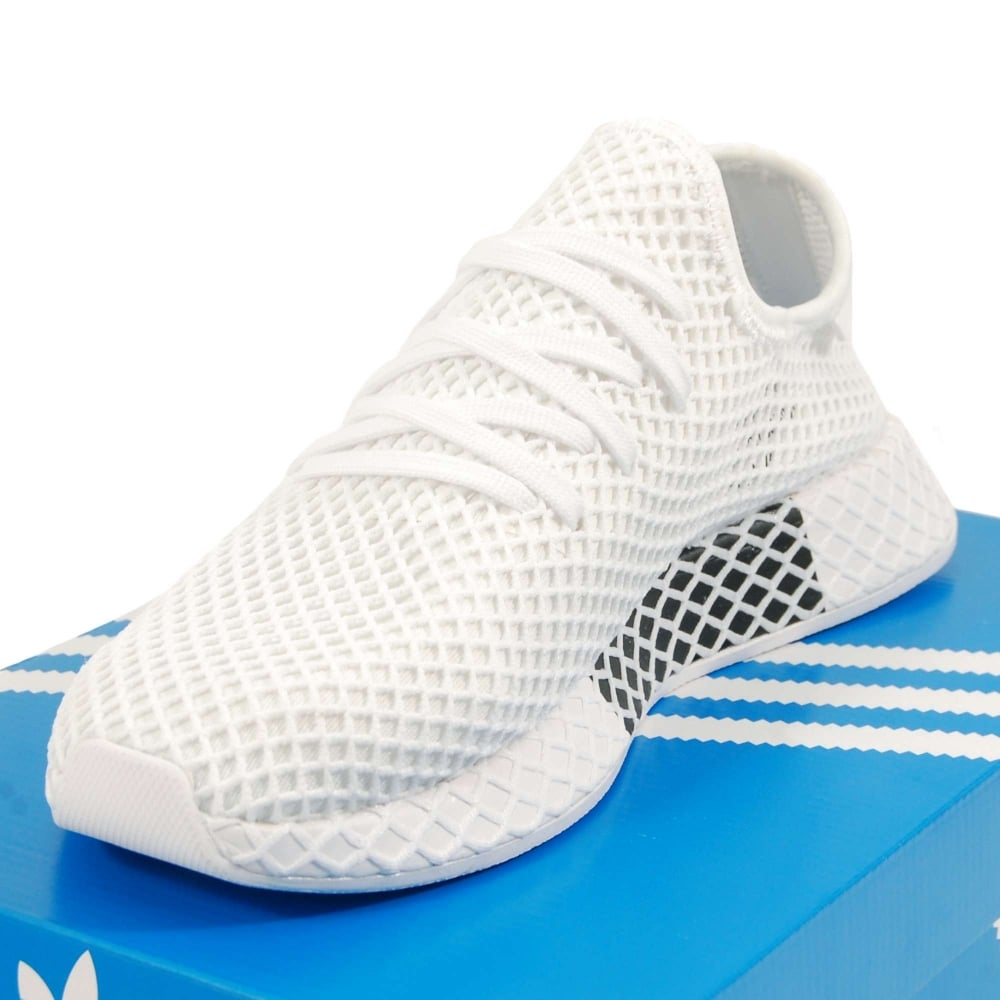 first rate best loved excellent quality Adidas Originals Deerupt Runner Triple White