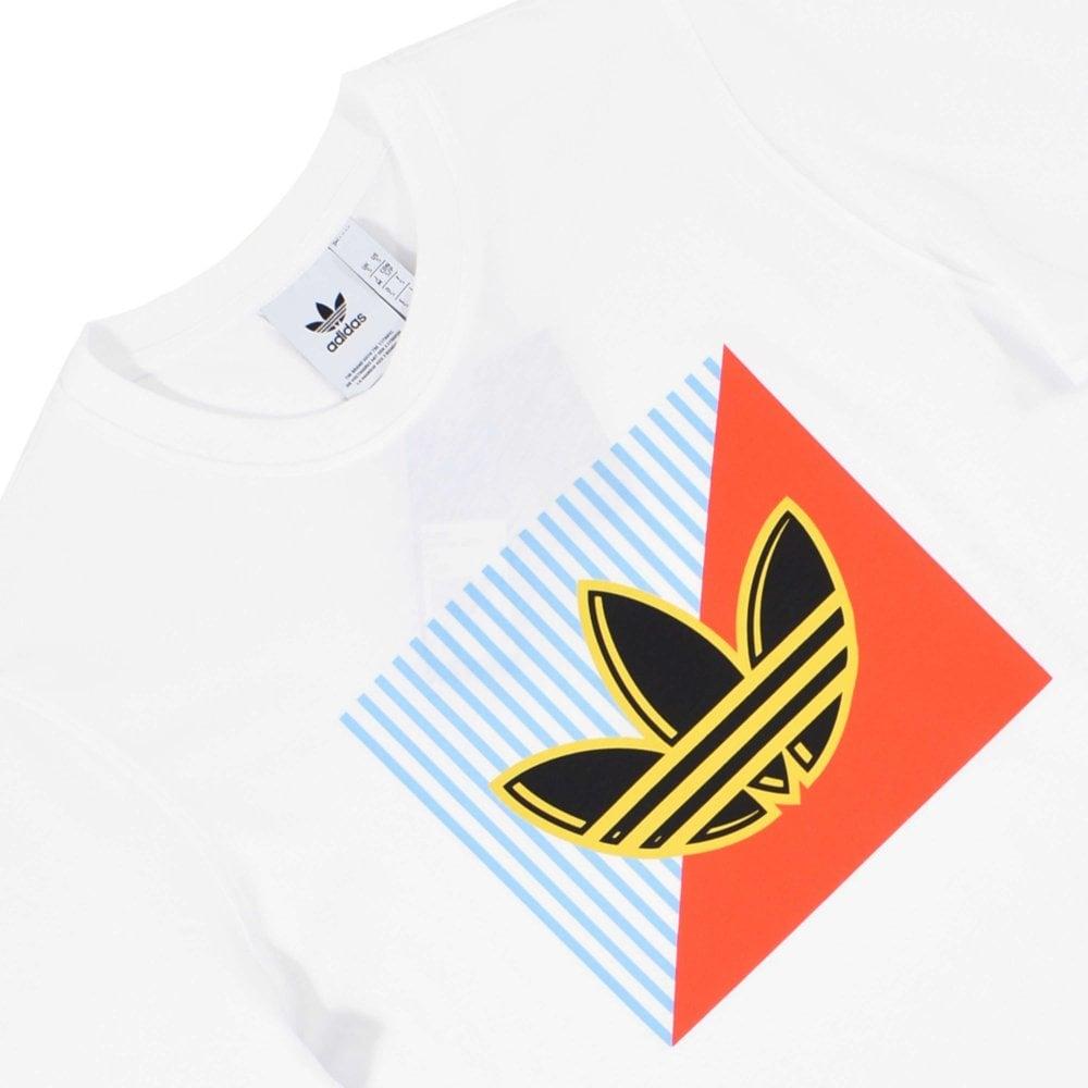 Diagonal Logo T-Shirt White