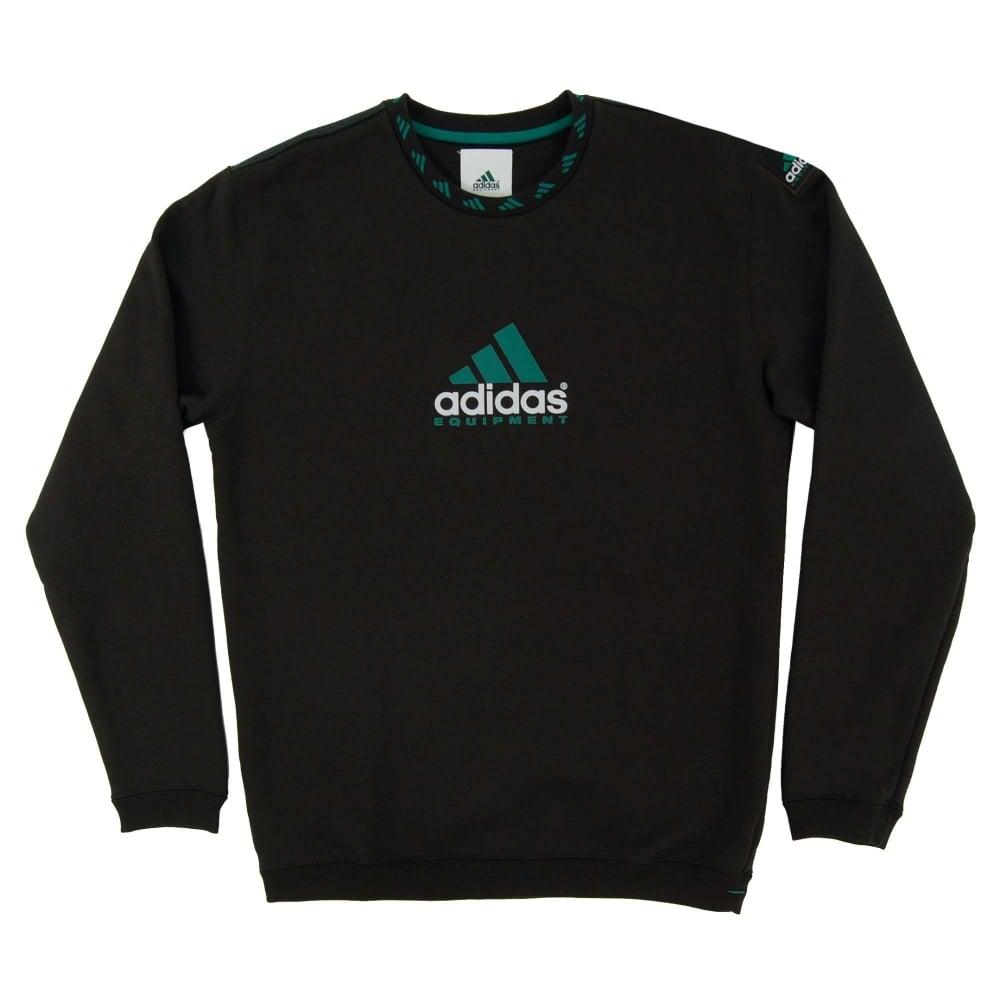 Adidas Originals EQT Logo Crew Sweatshirt Black