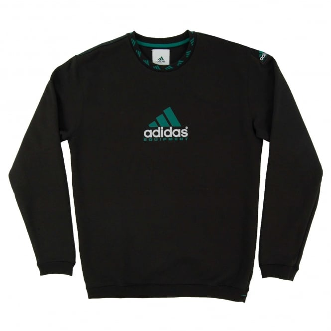 Adidas Originals EQT Logo Crew Sweatshirt Black
