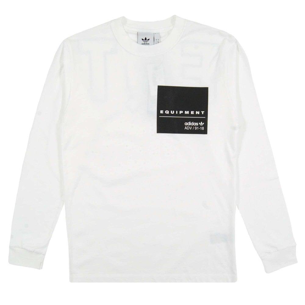 cbaf944f1 Adidas Originals EQT LS Graphic T-Shirt White - Mens Clothing from ...