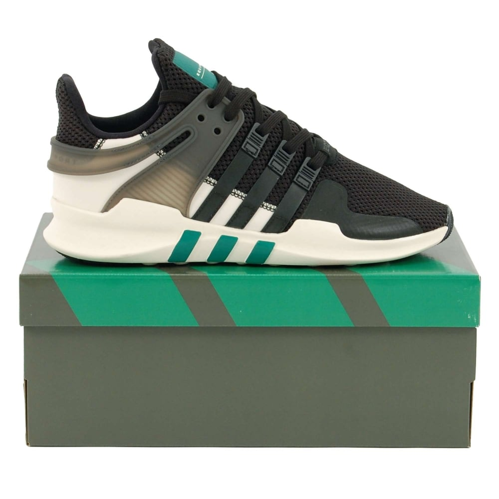 adidas originals eqt support adv core black sub green. Black Bedroom Furniture Sets. Home Design Ideas