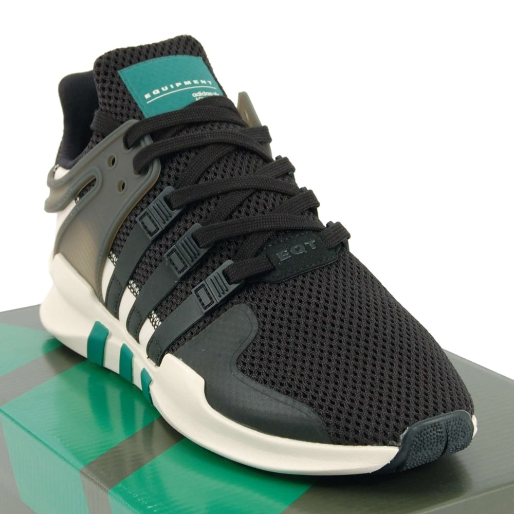 half off 664ae add24 Adidas Originals EQT Support ADV Core Black Sub Green Solid Grey