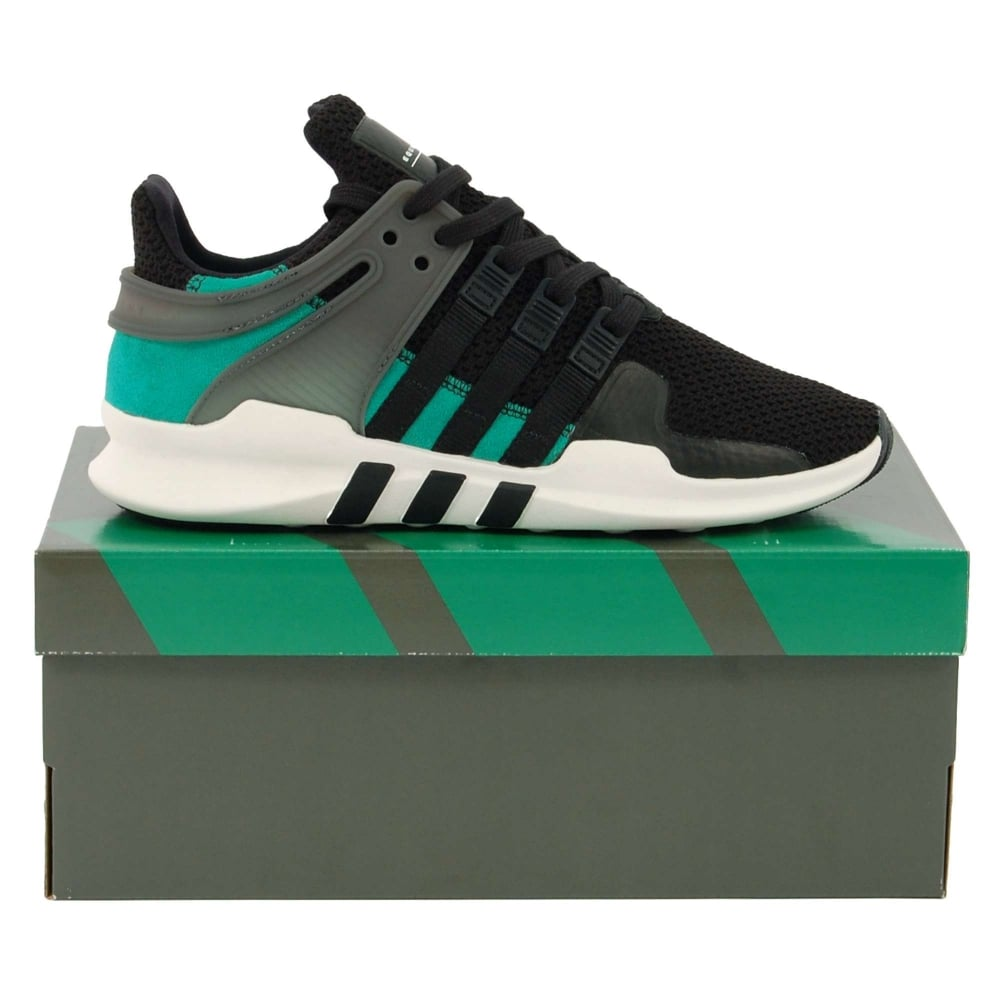 premium selection 31d75 fe55f Adidas Originals EQT Support ADV Core Black Sub Green Vintage White
