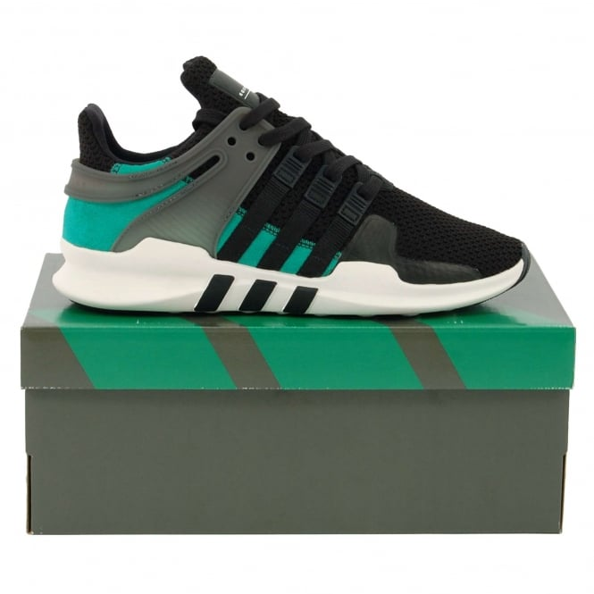 Adidas Originals EQT Support ADV Core Black Sub Green Vintage White
